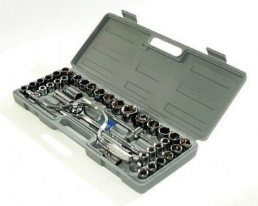 "High Quality 42 Piece Socket Set 1/2"" Metric Ratchet plug AF 42 Tool Kit Set U40"