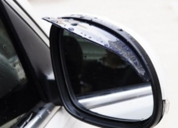 2 Car Wing Exterior Side Mirror waterproof Eyebrow Rain Protection Cover Cap U47
