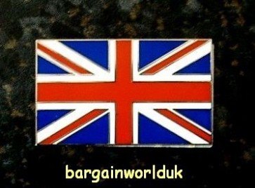 UK England Britain British Flag Queen Metal chrome badge logo emblem stickon new