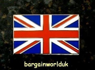 UK England Britain British Flag Queen Metal chrome badge logo emblem stickon new