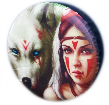 Girl Wolf Fantasy Wheel cover rear spare tyre wheelcover to fit all 4x4 and caravans