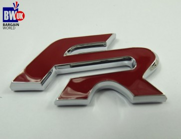 FR Car Chrome Badge Seat Leon Ibiza Cupr Cordoba Altea RED Emblem (Z12)