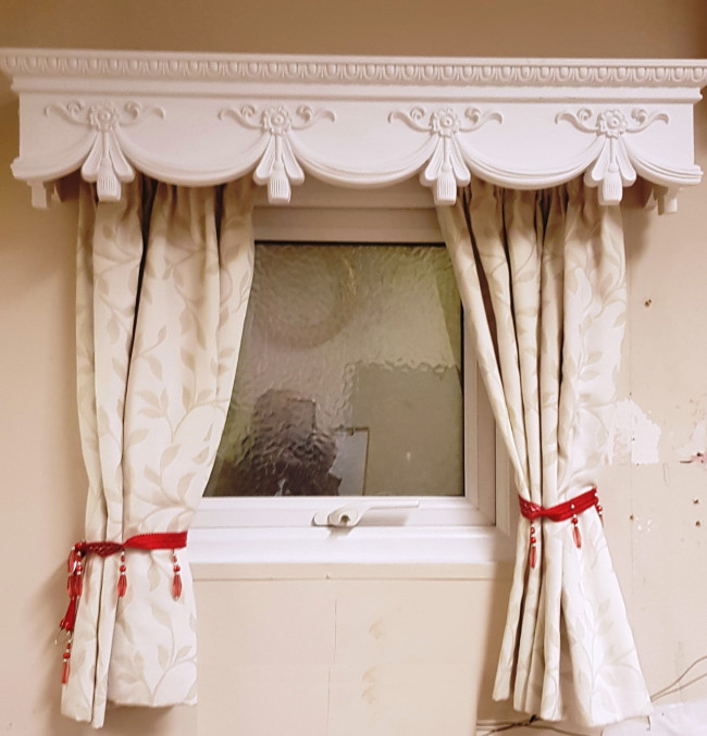 CURTAIN BOX VALANCE PELMET WINDOW DOOR CORNICE COVER
