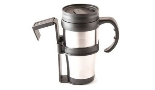Travel mug vehicle stainless steel hot cold no spill - Travel mug stainless steel interior ...