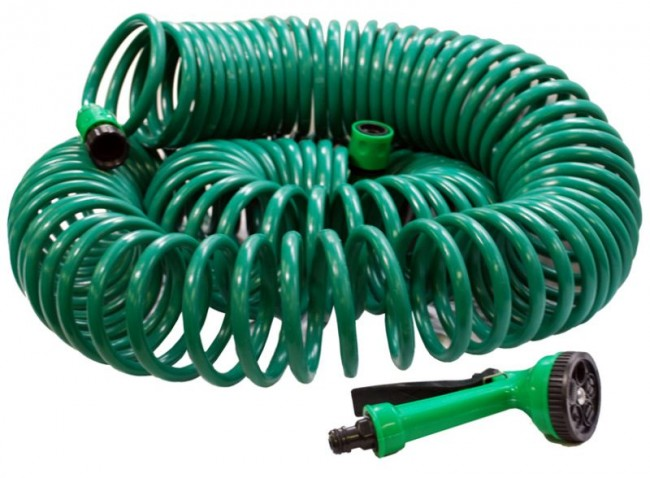 GARDEN HOSE 50 FT SOFT COIL GARDENING WATER SPRAY GUN CA17