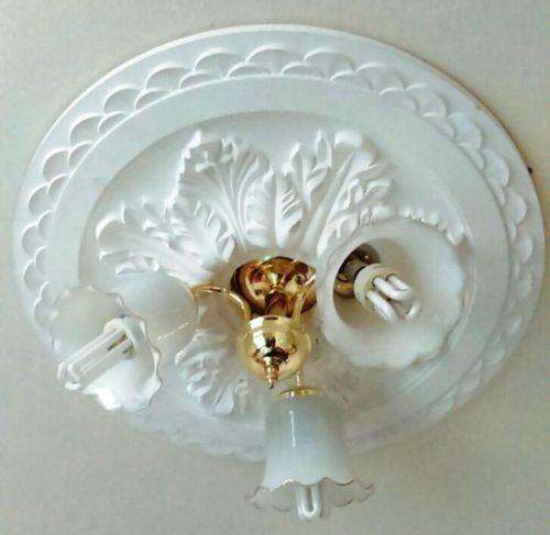 Large Beautiful Ornate White Ceiling Rose Home Decor