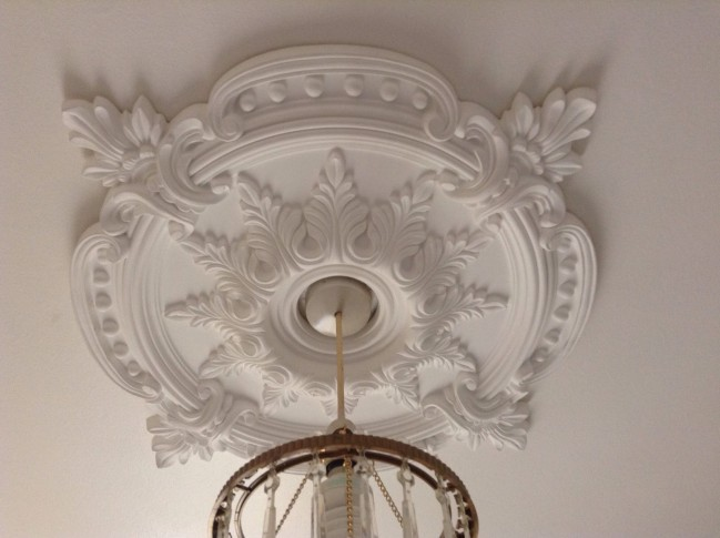 Large Beautiful Ornate White Ceiling Rose CR7
