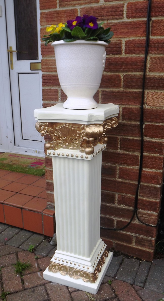 Click Superstore Ltd & Large Decorative Flower plant pot stand Pedestal victorian chic Entrance Posch