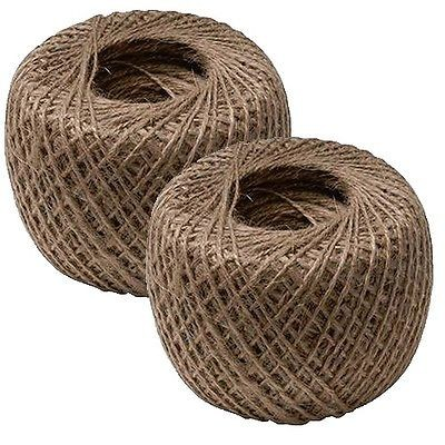 2 x Natural Garden String Jute Twine Ball Rope Roll Plant Ties