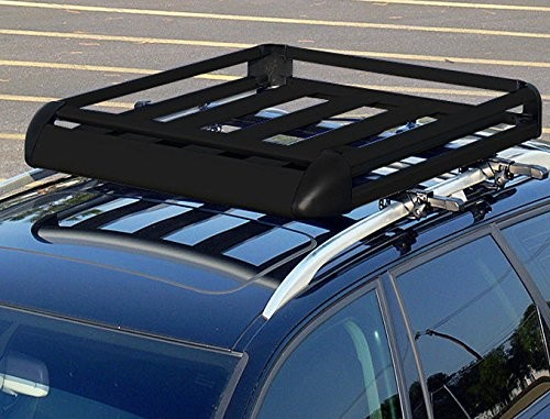 Large Black Aluminium Roof Rack Tray With Bars Racks