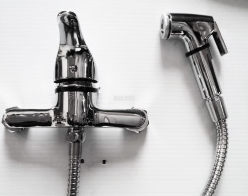 Bidet Toilet Bath Mixer Tap With Shower Hand Held Spray