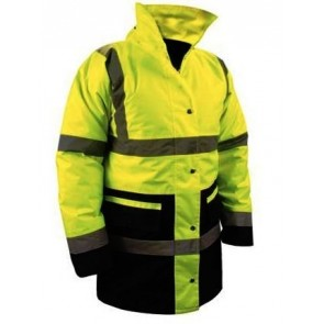Hi Viz High Visibility Yellow Reflective Waterproof Work Jacket Coat CLASS 3 U13