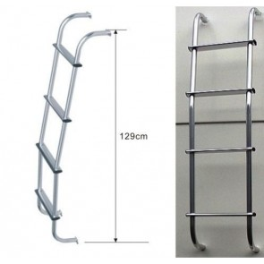 Mitsubishi Nissan Vauxhall VW Transit Ford Fiat Roof 4x4 Aluminium chrome Ladder