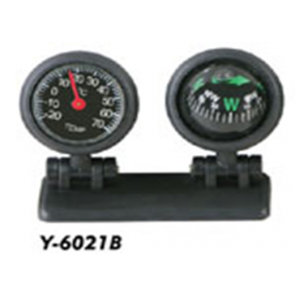 Car Dashboard Compass and Thermometer
