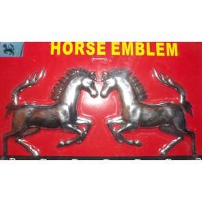 Jumping horses horse Chrome badge 3D cards logo emblem adhesive mirror AC19/H