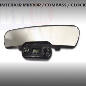 CAR REAR VIEW INTERIOR MIRROR UNIVERSAL CLIP ON CLOCK COMPASS TEMPERATURE AC4
