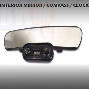 CAR REAR VIEW INTERIOR MIRROR UNIVERSAL CLIP ON CLOCK COMPASS TEMPERATURE AC4