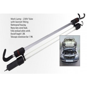 230V UNDER BONNET HOOD INSPECTION WORK LAMP TUBE STRIP LIGHT GARAGE TORCH CA101