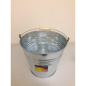 GALVANISED STEEL BUCKET 12 LTR HEAVY DUTY GARDEN WATER COAL CARRY HANDLE CA21