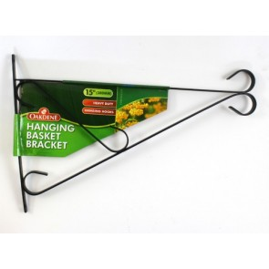 HANGING BASKET BRACKET 15 INCH HOOK WALL GARDEN FLOWERS HEAVY DUTY CA55