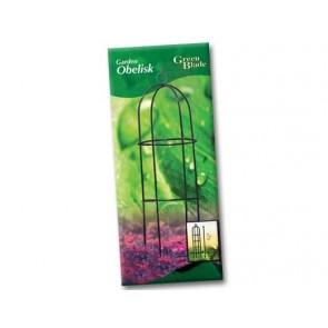 GARDEN OBELISK 249CM CLIMBING PLANT FRAME GARDEN PATIO COATED STEEL SUPPORT CA57