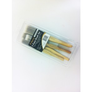 PAINT BRUSH SET 5 PIECE PLATINUM DECORATING DIY CONSTRUCTION SYNTHETIC CA66