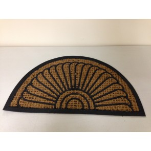 PANAMA HALF MOON TUFFSCRAPE DOOR MAT ENTRANCE DOORMAT SEMI CIRCLE HOUSEHOLD CA73