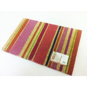 STRIPE DESIGN COIR PVC BACKED DOOR MAT STRIPEY ENTRANCE STRIPED DOORMAT CA79