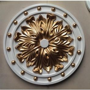 Gold Beautiful Ornate white Ceiling rose Home Decor Victorian Medallion 52cm CR4