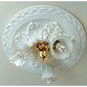 Large Beautiful Ornate white Ceiling rose (CR6)
