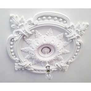 85CM LARGE Ceiling Rose Beautiful White Ornate Home Decor Medallion HUGE CR7-XL