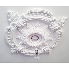 85CM LARGE Ceiling Rose Beautiful White Ornate Home Decor Medallion HUGE CR7-XL