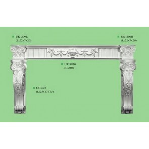 Victorian Style Corbel Fire place Surround Fireplace Mantel Beautiful curved CR0