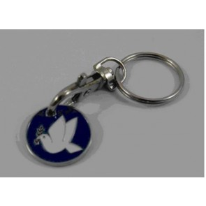 Peace Dove Love Pigeon keychain key chain gift car house steel keychain