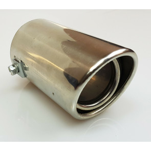 BIG Exhaust Tail Pipe Chrome TRIM Muffler Cover Extension 62mm x 125mm UK EX14