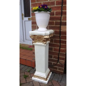 Large Decorative Flower plant pot stand Pedestal victorian chic Entrance Posch