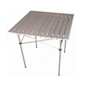 70CM SQUARE ALUMINIUM FOLDING TABLE ROBUST FOLDAWAY CAMPING PICNIC H19