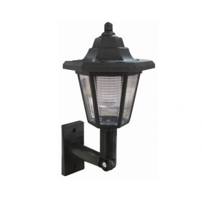SOLAR WALL LANTERN LED LIGHT OUTDOOR GARDEN LAMP MOUNTED FENCE SUN LIGHTING H31