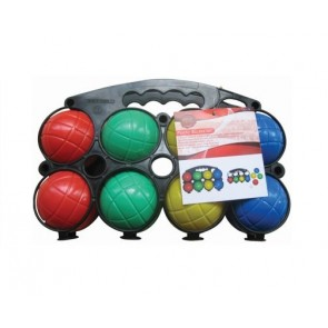 PLASTIC BOULES SET OUTDOOR GAMES GARDEN CHILDREN FUN CARRY CASE BALLS H5