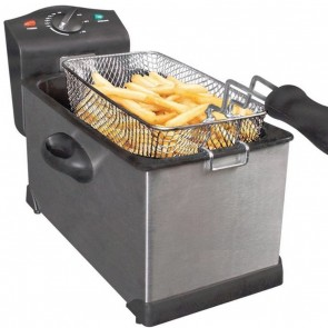Professional Deep Fat Fryer Stainless Steel 3 Litre Chips Kitchen Non Stick H9