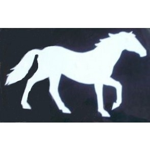 Horse outline white large decal self adhesive sticker wheel cover vehicle new!