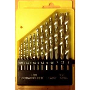 13pc HSS DRILL BIT SET 2-8mm metal plastic wood round shank bosch dewalt etc -T5