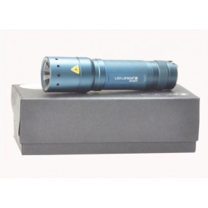 LED LENSER 7438B Police Tech LED Focus 115 lumens Torch Cobalt Blue Gift Box T17