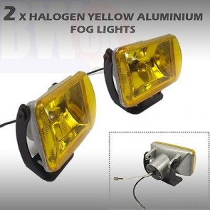 2x YELLOW HALOGEN 4x4 OFFROAD FOG SPOT HEAD LIGHT DRIVING BEAM LAMP 55W 12V LIG1