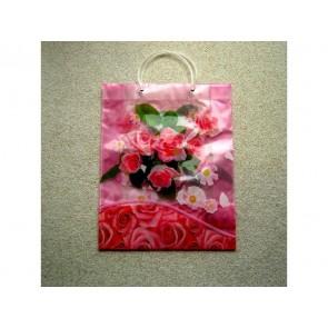 Large Reusable Decorative Gift Bag ROSE FLOWER Carrier 31 x10x39cm LS16
