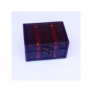 2 x MINI DECORATIVE Boxes JEWELLERY Chest Decoupage Art Craft Storage Box LS17