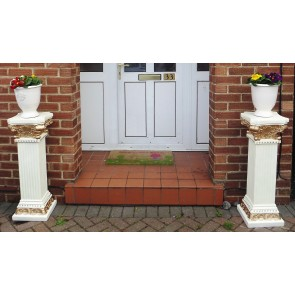 Large Pedestal victorian chic stands Posch Entrance Decorative Plant Flower photo medal plinth statue column pot display  Stand Pair