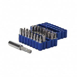 SECURITY BIT SET 33PCE 25 MM SCREWDRIVER SCREW DRIVER TAMPER PROOF P104