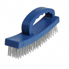 BRAND NEW D-HANDLE WIRE BRUSH 4 ROW METAL CLEANING CLEANER HAND TOOL P124