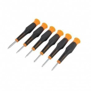 BRAND NEW PRECISION SCREWDRIVER SET PHILLIPS & SLOTTED 6PCE 105 MM DIY TOOL P134